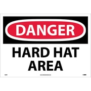 Danger, Hard Hat Area, 14X20, Adhesive Vinyl