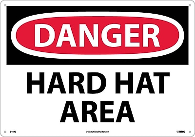 Danger, Hard Hat Area, 14X20, Rigid Plastic