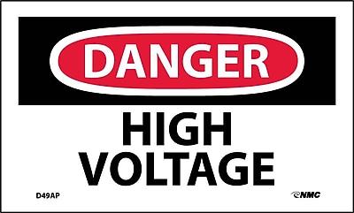 Labels - Danger, High Voltage, 3X5, Adhesive Vinyl, 5/Pk