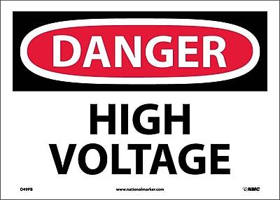 Danger, High Voltage, 10X14, Adhesive Vinyl
