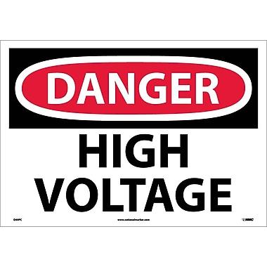 Danger, High Voltage, 14X20, Adhesive Vinyl