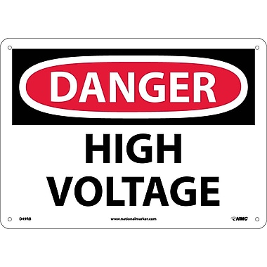 Danger, High Voltage, 10X14, Rigid Plastic