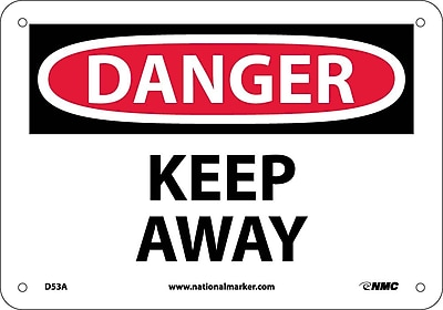 Danger, Keep Away, 7X10, .040 Aluminum