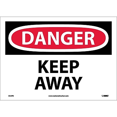 Danger, Keep Away, 10X14, Adhesive Vinyl