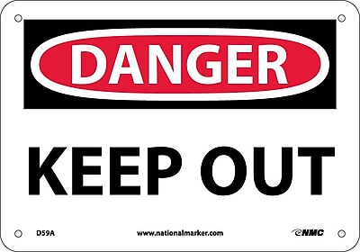 Danger, Keep Out, 7X10, .040 Aluminum