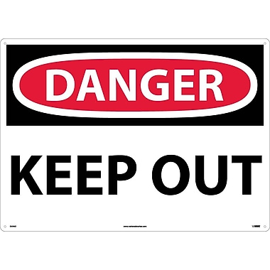 Danger, Keep Out, 20X28 .040 Aluminum