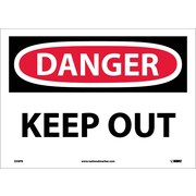 Danger, Keep Out, 10X14, Adhesive Vinyl