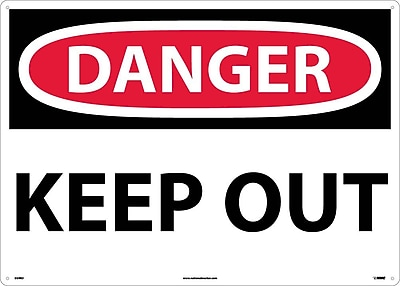 Danger, Keep Out, 20X28, Rigid Plastic