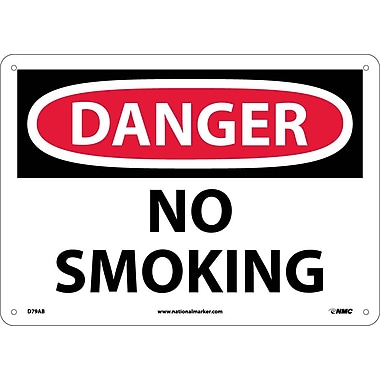 Danger, No Smoking, 10X14, .040 Aluminum