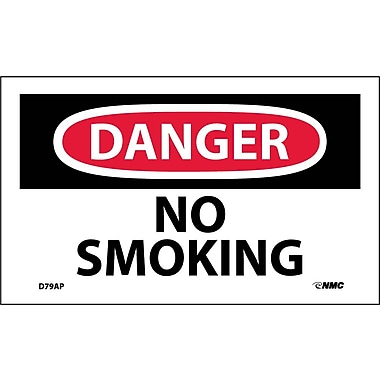 Labels Danger, No Smoking, 3