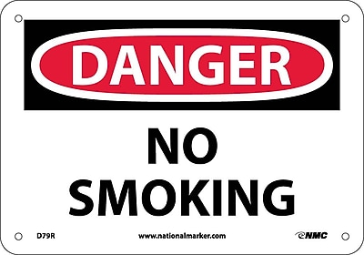 Danger, No Smoking, 7X10, Rigid Plastic