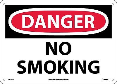 Danger, No Smoking, 10X14, Rigid Plastic
