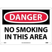 Danger, No Smoking In This Area, 10X14, .040 Aluminum