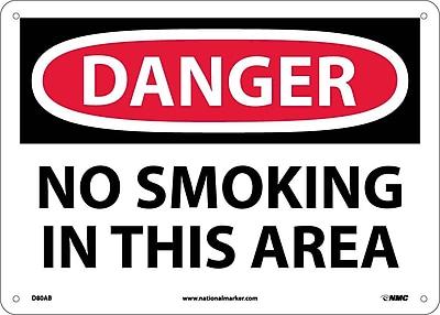 Danger, No Smoking In This Area, 10X14, .040 Aluminum