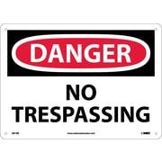 Danger, No Trespassing, 10X14, Rigid Plastic