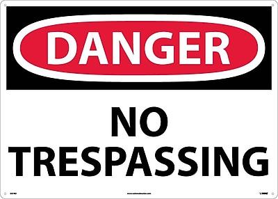 Danger, No Trespassing, 20X28, Rigid Plastic