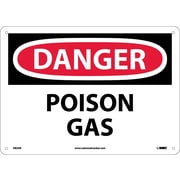 Danger, Poison Gas, 10X14, .040 Aluminum