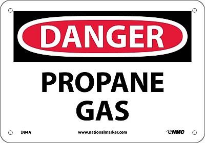 Danger, Propane Gas, 7X10, .040 Aluminum