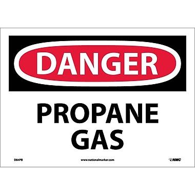 Danger, Propane Gas, 10X14, Adhesive Vinyl