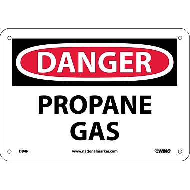 Danger, Propane Gas, 7X10, Rigid Plastic