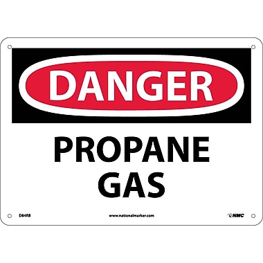 Danger, Propane Gas, 10X14, Rigid Plastic