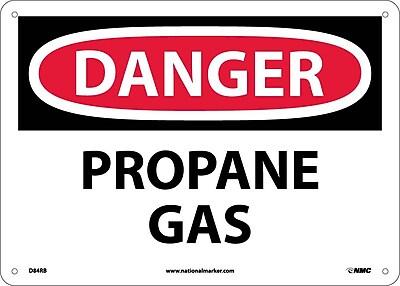 Danger, Propane Gas, 10X14, Rigid Plastic