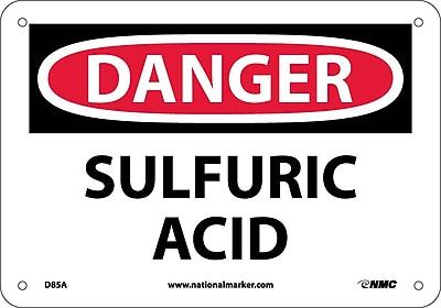 Danger, Sulfuric Acid, 7X10, .040 Aluminum