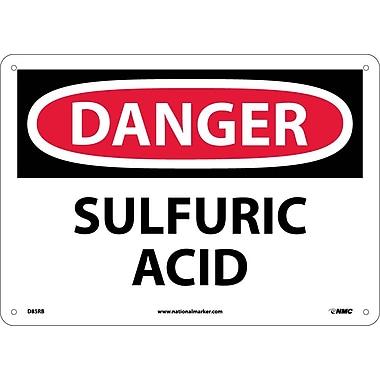 Danger, Sulfuric Acid, 10X14, Rigid Plastic