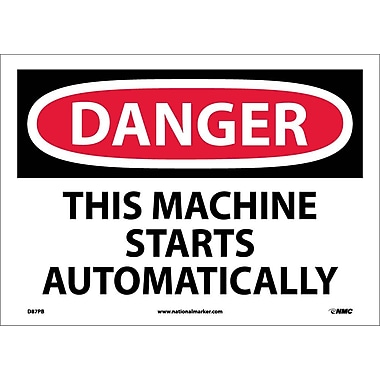 Danger, This Machine Starts Automatically, 10