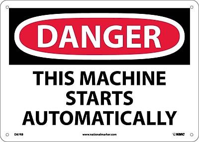 Danger, This Machine Starts Automatically, 10X14, Rigid Plastic