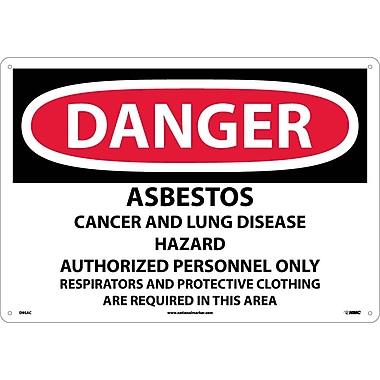 Danger, Asbestos Cancer And Lung Disease Hazard, 14