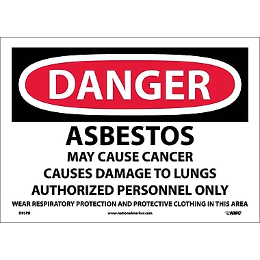 Danger, Asbestos Cancer And Lung Disease Hazard, 10