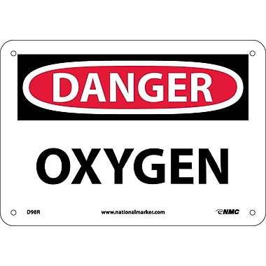 Danger, Oxygen, 7X10, Rigid Plastic