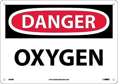 Danger, Oxygen, 10X14, Rigid Plastic