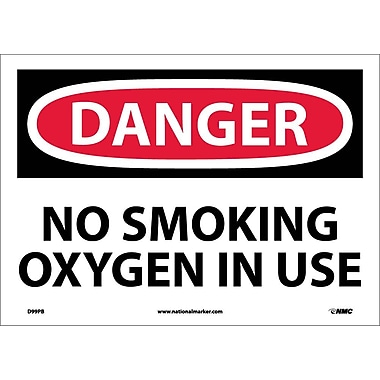 Danger, No Smoking Oxygen In Use, 10