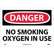 Danger, No Smoking Oxygen In Use, 10X14, Adhesive Vinyl