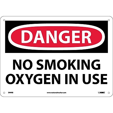 Danger, No Smoking Oxygen In Use, 10X14, Rigid Plastic
