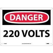 Danger, 220 Volts, 10X14, Fiberglass