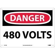 Danger, 480 Volts, 10X14, Fiberglass