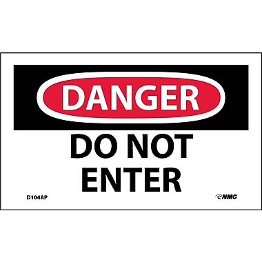Labels Danger, Do Not Enter, 3