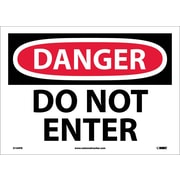 Danger, Do Not Enter, 10X14, Adhesive Vinyl
