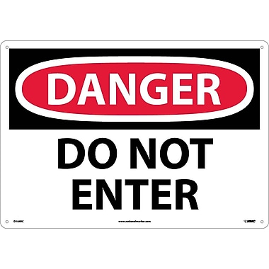 Danger, Do Not Enter, 14X20, Rigid Plastic