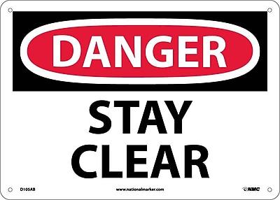 Danger, Stay Clear, 10X14, .040 Aluminum