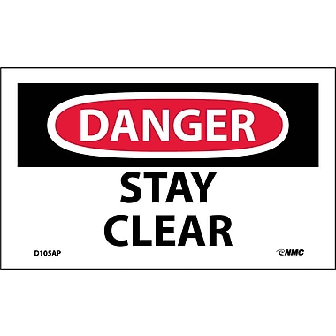 Labels Danger, Stay Clear, 3