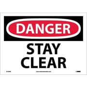 Danger, Stay Clear, 10X14, Adhesive Vinyl