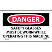 Labels - Danger, Safety Glasses Must Be Worn