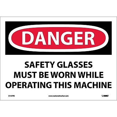 Danger, Safety Glasses Must Be Worn While Operating..., 10