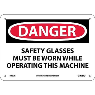 Danger, Safety Glasses Must Be Worn While Operating.., 7
