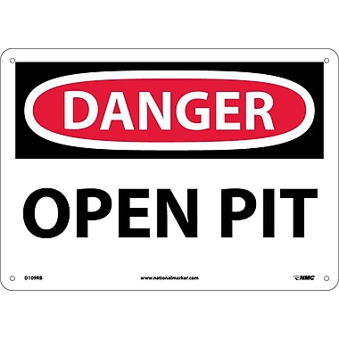 Danger, Open Pit, 10X14, Rigid Plastic