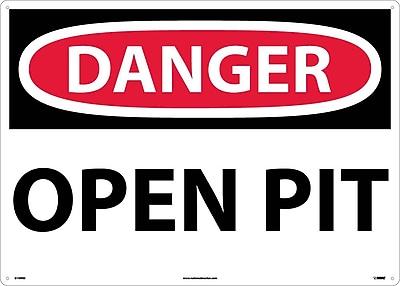 Danger, Open Pit, 20X28, Rigid Plastic